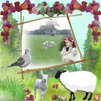Kids with farm animals