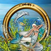 ALPHABET CHALLENGE - mermaid paint-the-sea
