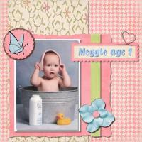 Meggie in washtub