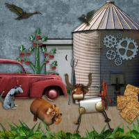 Steampunk farm