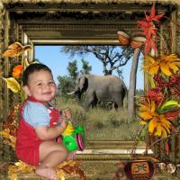 Caeden on safari
