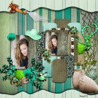 Wood & flowers Template Design