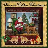 A Golden Christmas Card