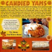 Recipe for CANDIED YAMS!