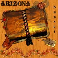 Arizona Brilliant Roaring Sunset