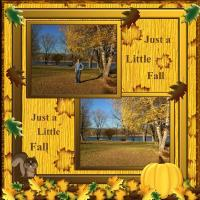 Scrap this Theme with Leaves