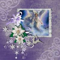 Lilac christmas angel