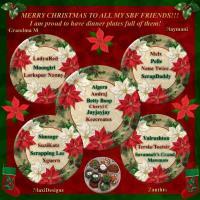 Christmas Dinner Plates Full of SBF friends!