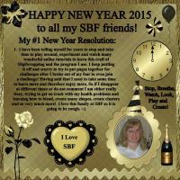 Golden New Year's Resolution Celebration