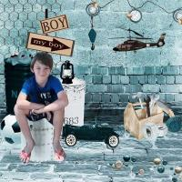 grandson Logan boy-things