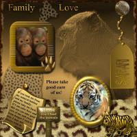 Baby Apes & Tigers need Family