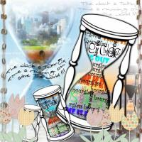 The hourglass is talking