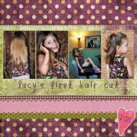 Lucy's 1st hair cut