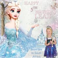 Happy 5th birthday Leah