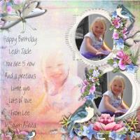 Happy 5th birthday Leah 2