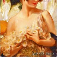 Lady with Daisies