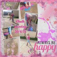chalk painting fun