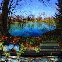 Lakeview Park, Oil Painting