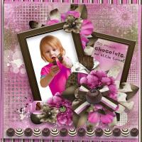 Color Combo  Brown Pink  chocolate dreams