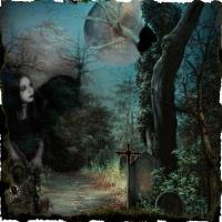 Dark goth cemetary