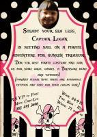 Logans 5th Birthday Invite