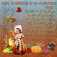 HAPPY THANKSGIVING TO ALL AT SCRAPBOOK FLAIR