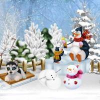 CUTE WINTER SCENE  winter-joy