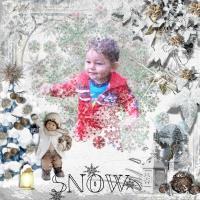 Caeden in the snow
