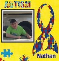 Autism ribbon background
