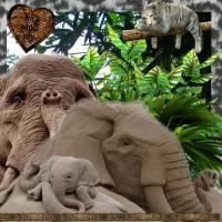 Elephant Sand Sculptures