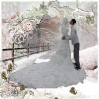 Bride snow sculpture