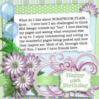 Happy Birthday ScrapbookFlair