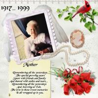 My Dear Mother Sarah~