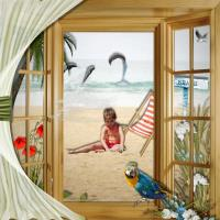 Through the doors onto the beach