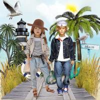 Kids Modeling Casual Beach Wear~