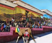 OUTSIDE THE ALMUDENA CEMENTERY CUDSCO PERU
