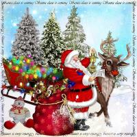 Santa Claus Is Coming In Lights~