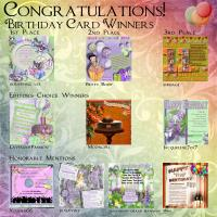 Scrapbook Flair 11th Birthday Challenge Winners
