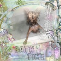 Twinkles having a bath