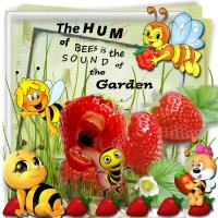 Strawberries and Bees
