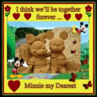 Mickey & Minnie Mouse Sand Sculpture