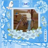 Lori's Blue Bicycle 1974