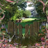 Biking to a Nearby Mansion