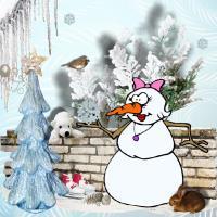 Unusual Snowman