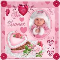 Valentine's Day Newborn Baby