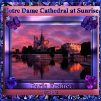 Notre Dame Cathedral at Sunrise