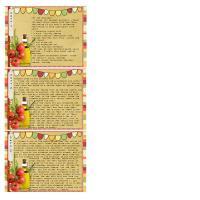 Mangia!  Recipe Cards