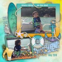 Olivia on the Boat