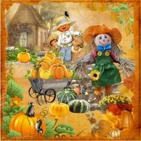 Scarecrows and Pumpkins