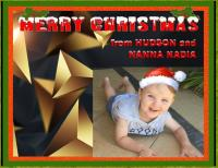 MERRY CHRISTMAS FROM HUDSON AND NANNA